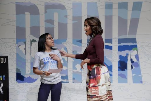 LREI Students at Drink Up with Michelle Obama